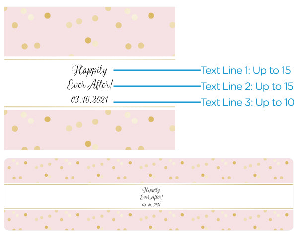 Personalized Water Bottle Labels - Princess Party