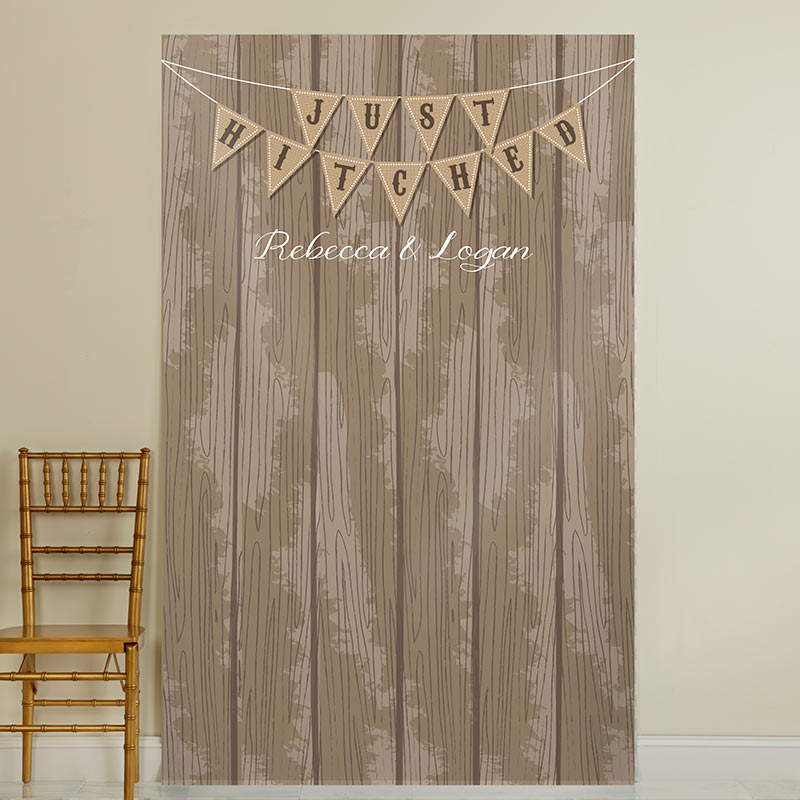 Personalized Photo Backdrop - Just Hitched