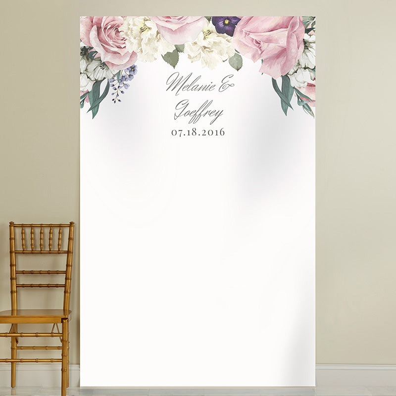 Personalized Photo Backdrop - English Garden