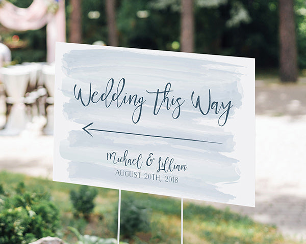 Load image into Gallery viewer, Personalized Directional Sign (18x12) - Nautical Wedding