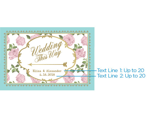 Load image into Gallery viewer, Personalized Directional Sign (18x12) - Tea Time