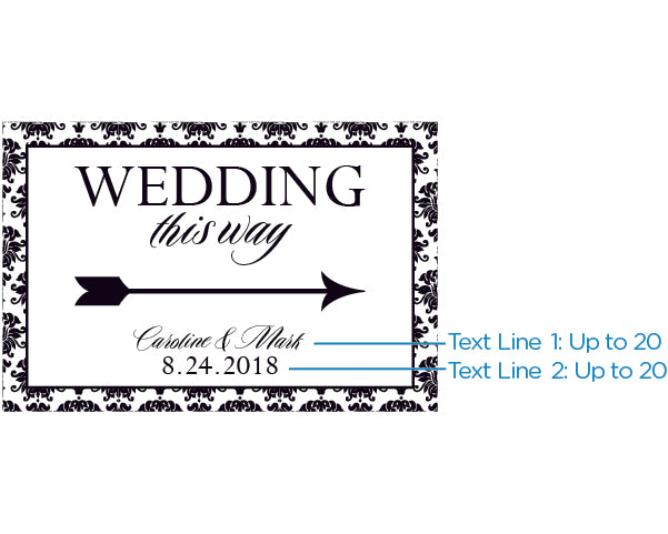 Personalized Directional Sign (18x12) - Damask