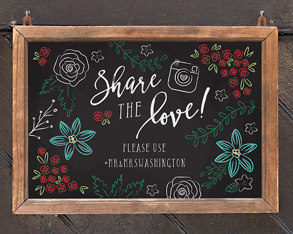 Load image into Gallery viewer, Personalized Sign (18x12) - Chalk