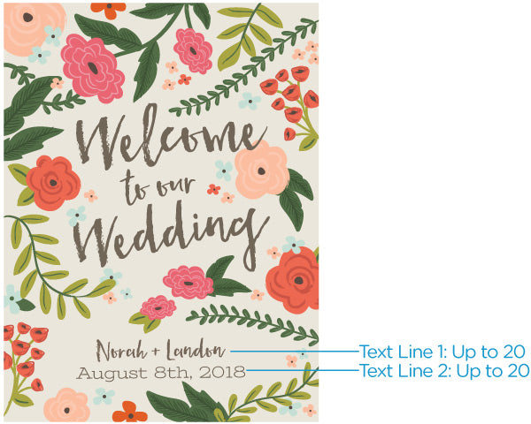 Personalized Poster (18x24) - Vintage Wedding