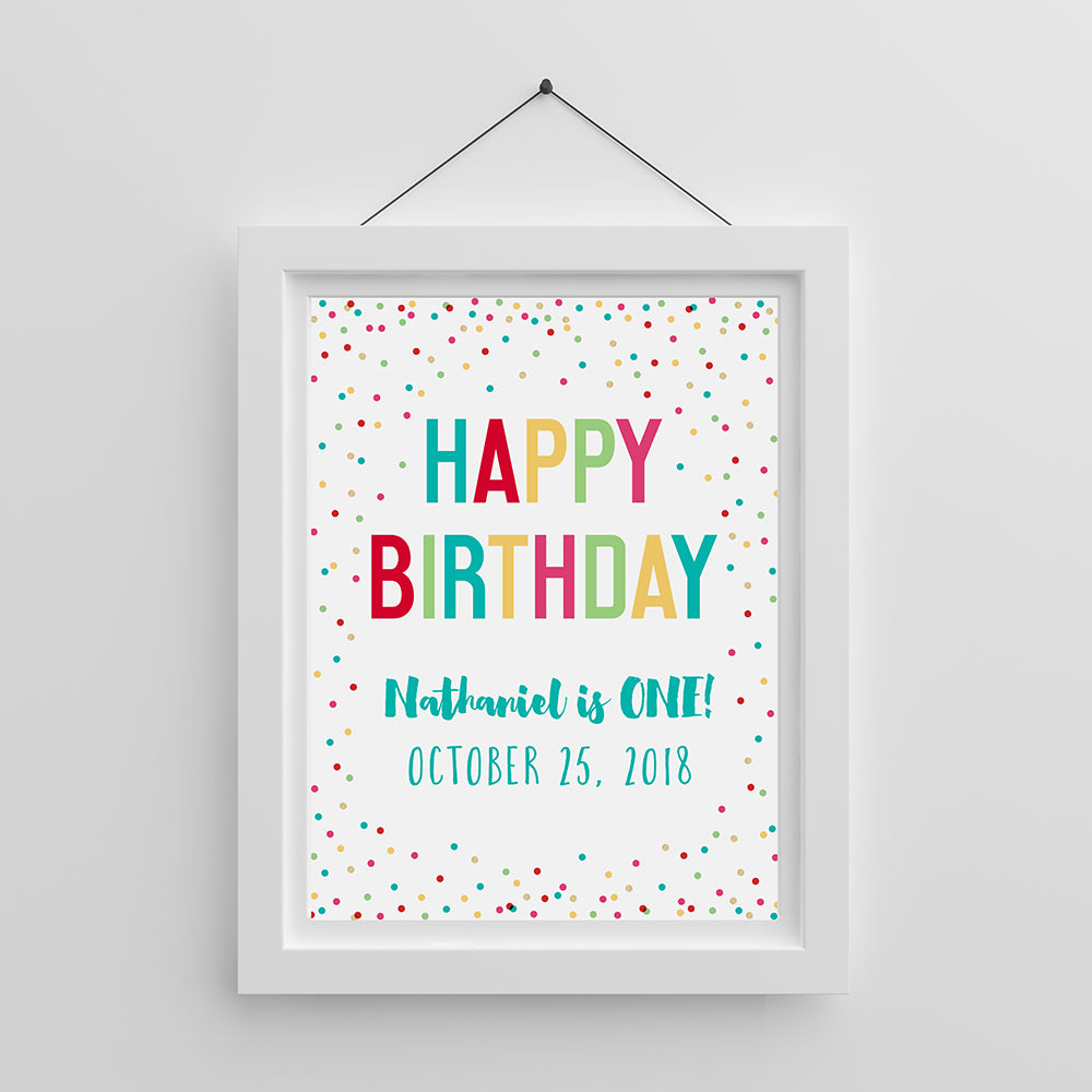 Personalized Poster (18x24) - Happy Birthday