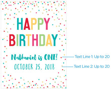 Load image into Gallery viewer, Personalized Poster (18x24) - Happy Birthday