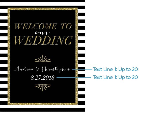 Load image into Gallery viewer, Personalized Poster (18x24) - Classic Wedding