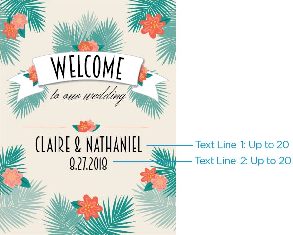 Personalized Poster (18x24) - Tropical Chic
