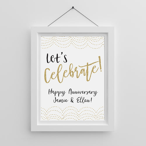 Personalized Poster (18x24) - Let's Celebrate!