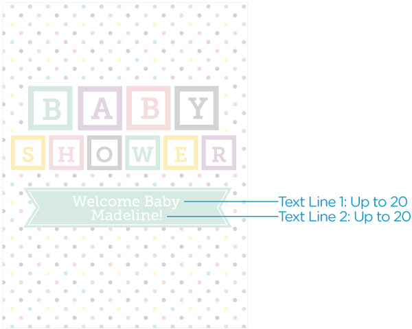 Load image into Gallery viewer, Personalized Poster (18x24) - Baby Blocks