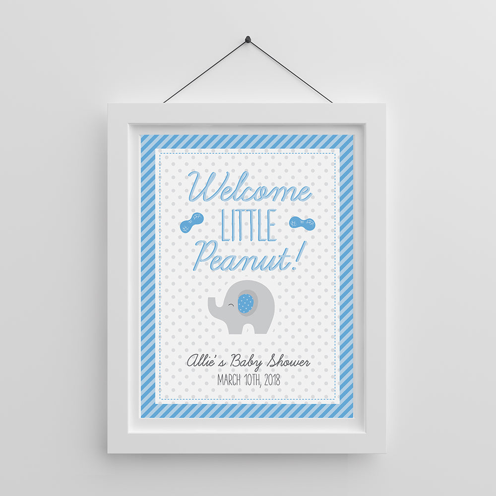 Personalized Poster (18x24) - Little Peanut (Blue or Pink)