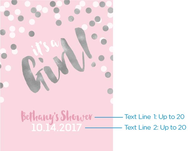 Personalized Poster (18x24) - It's a Girl!