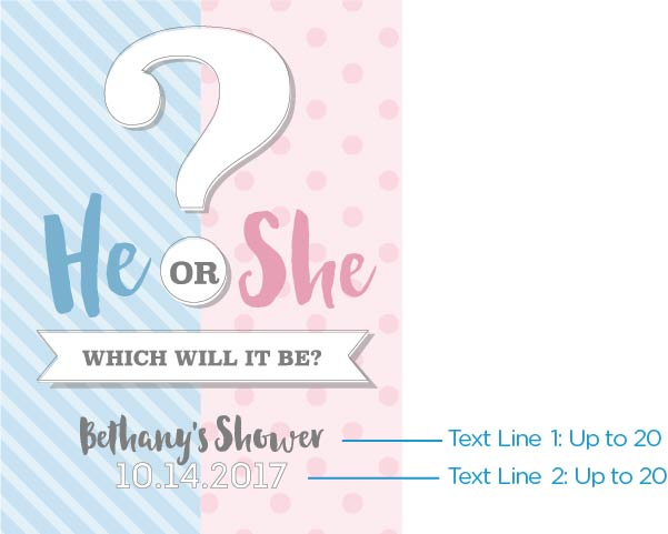 Personalized Poster (18x24) - Gender Reveal