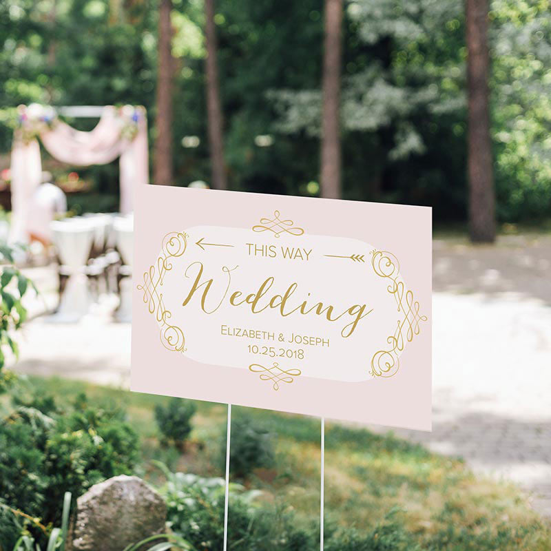 Personalized Directional Sign (18x12) - Modern Romance