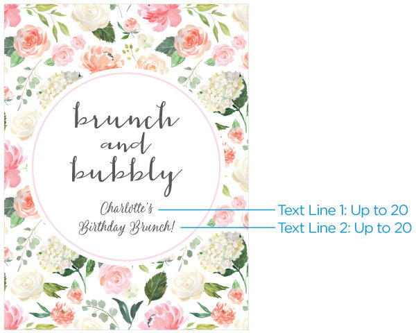 Personalized Poster (18x24) - Brunch & Bubbly