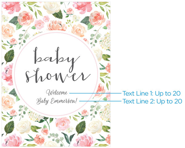 Personalized Poster (18x24) - Brunch Baby Shower