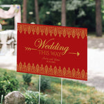 Personalized Directional Sign (18x12) - Indian Jewel