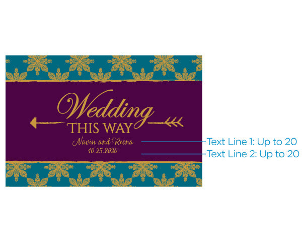 Load image into Gallery viewer, Personalized Directional Sign (18x12) - Indian Jewel