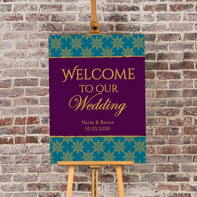 Load image into Gallery viewer, Personalized Poster (18x24) - Indian Jewel Wedding