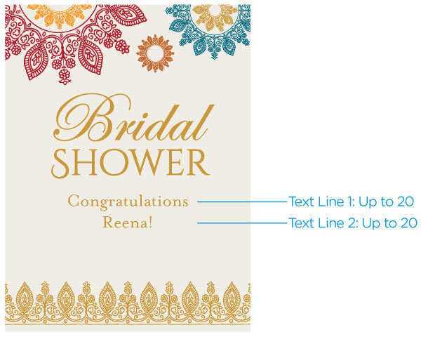 Personalized Poster (18x24) - Indian Jewel Bridal Shower