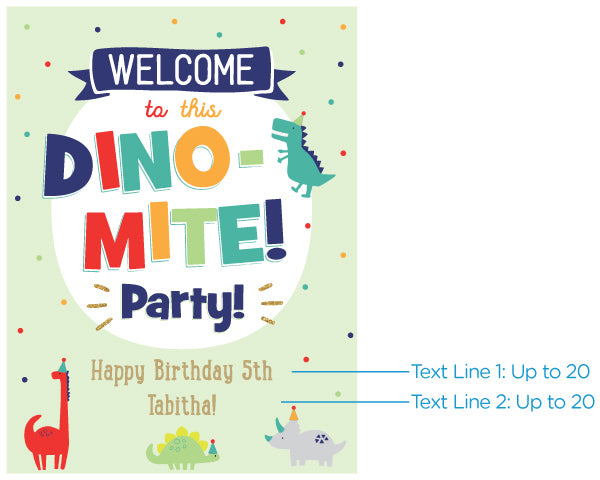 Personalized Poster (18x24) - Dino Party