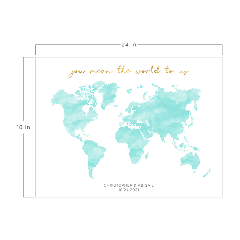 Load image into Gallery viewer, Personalized Wedding Guest Book Alternative - Map
