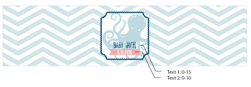 Load image into Gallery viewer, Personalized Water Bottle Labels - Kate's Nautical Baby Collection