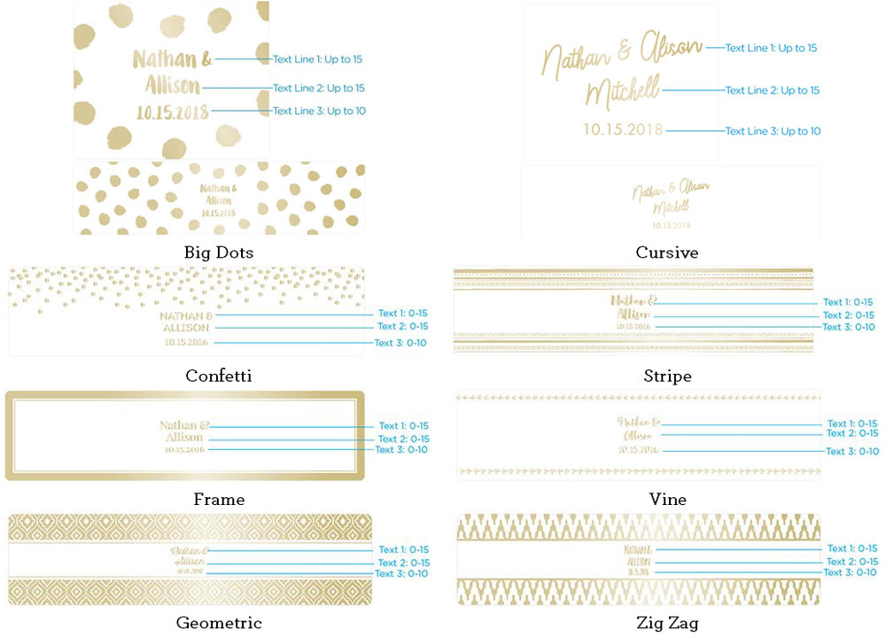 Load image into Gallery viewer, Personalized Water Bottle Labels - Gold Foil
