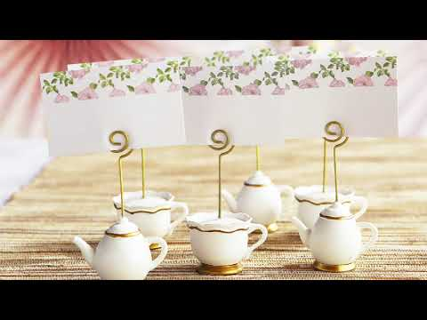 Load and play video in Gallery viewer, Tea Time Whimsy Place Card Holder (Set of 6)