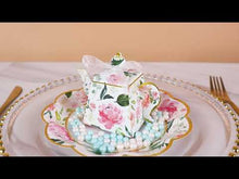 Load and play video in Gallery viewer, Floral Teapot Favor Box (Set of 24)
