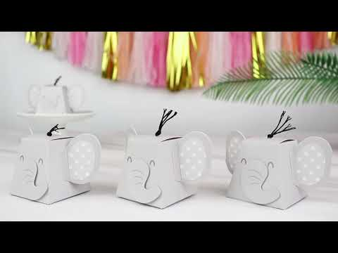 Load and play video in Gallery viewer, Elephant Favor Box (Set of 12)