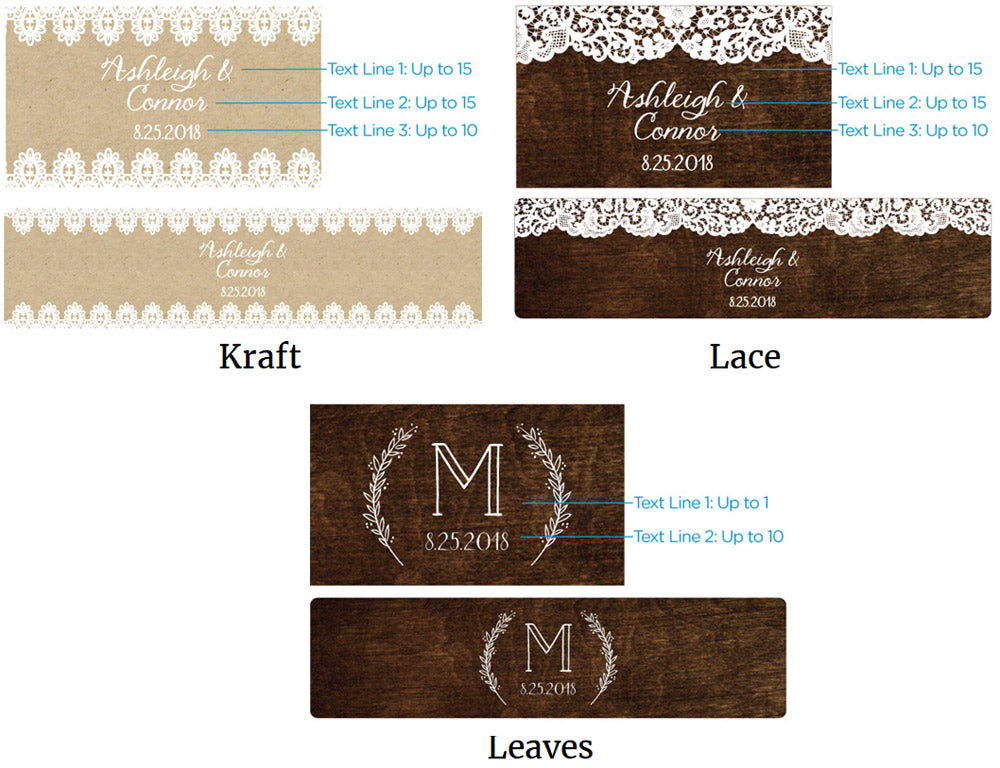 Load image into Gallery viewer, Personalized Water Bottle Labels - Rustic Charm Wedding