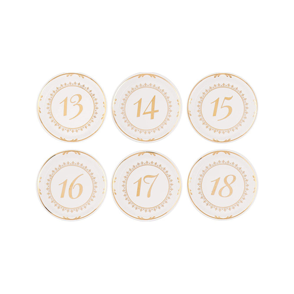 Load image into Gallery viewer, Tea Time Vintage Plate Table Numbers (13-18)