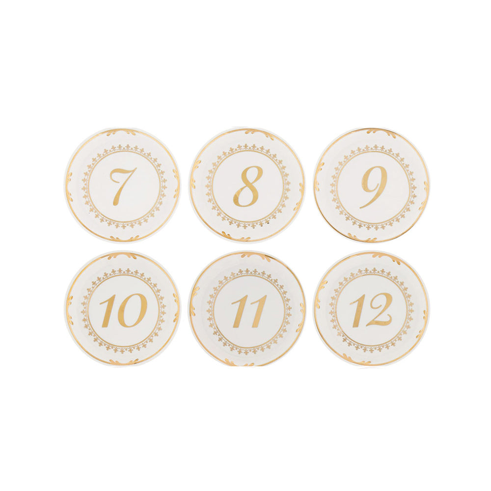 Load image into Gallery viewer, Tea Time Vintage Plate Table Numbers (7-12)