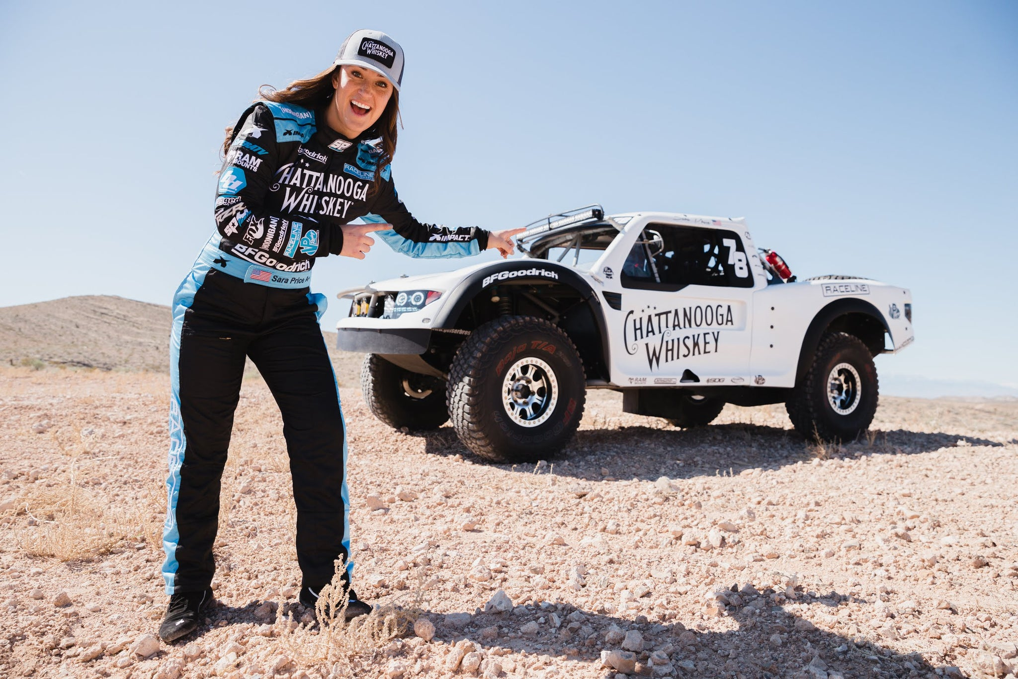 Sara Price to Make Trophy Truck Debut with Chattanooga Whiskey at the Prestigious Mint 400