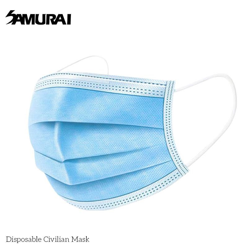 SAMURAI DISPOSABLE CIVILIAN 3-PLY MASK (50 PIECES)