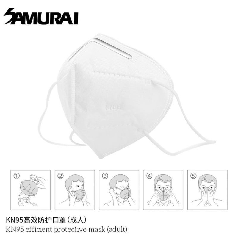 SAMURAI KN95 EFFICIENT PROTECTIVE MASK (ADULT) (20 PIECES)