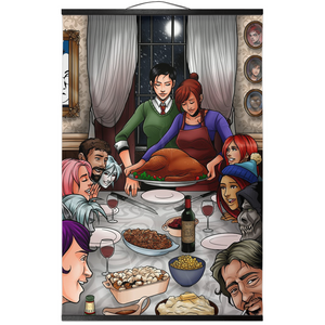 A Mythoverse Thanksgiving Wall Scroll