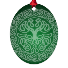 Load image into Gallery viewer, Mythoverse Tree Metal Christmas Ornaments