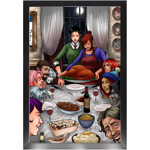 A Mythoverse Thanksgiving framed print