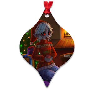 Changeling Metal Christmas Ornament