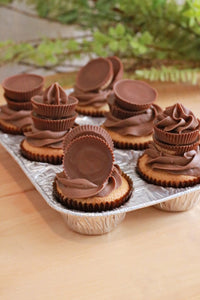 6 Reese A-Layering Chocolate Cupcakes