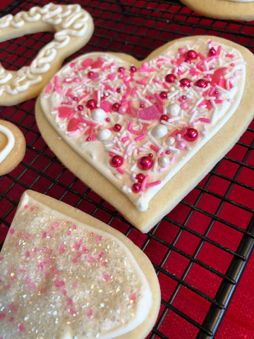 Sugar Cookie with icing made with lemon juice and pasteurized egg white