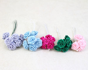 "RIBBON ROSE 1"" ASSORTED COLOUR"