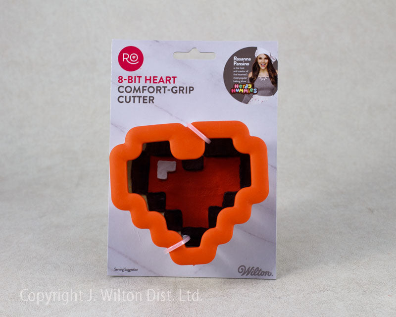COMFORT GRIP COOKIE CUTTER PIXEL HEART