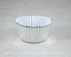 FOIL BAKING CUP STANDARD 50x38mm SILVER 240pc.