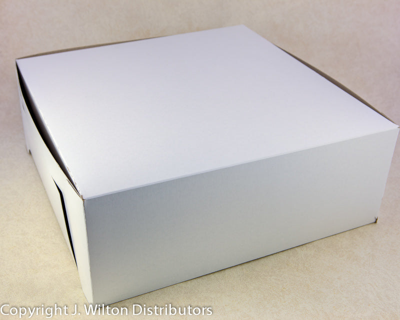CAKE BOX 16x16x6 1PC WHITE