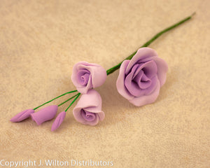 GUMPASTE ROSE FILLER SMALL 5PC LAVENDER