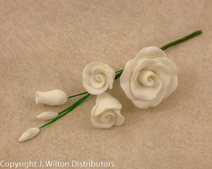 ROSE FILLER SMALL 5PC WHITE