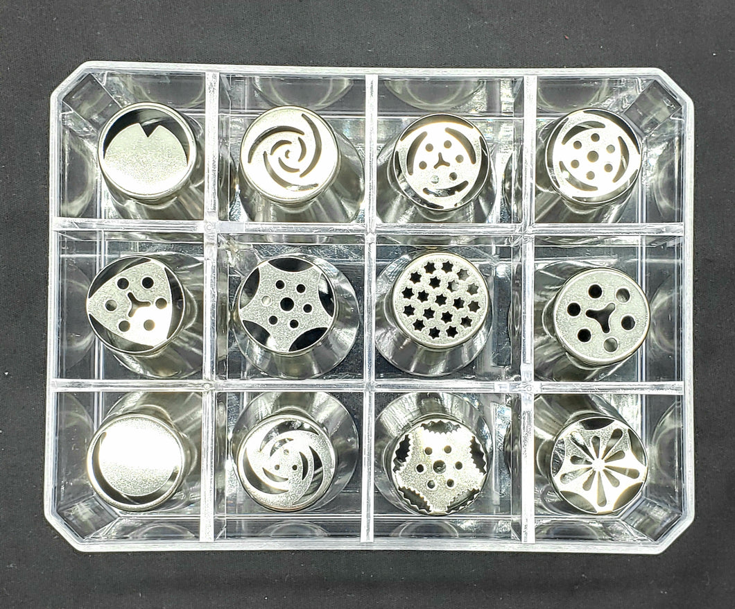 RUSSIAN PIPING TIPS 12PC.